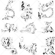music notes tattoo swirl - Google Search