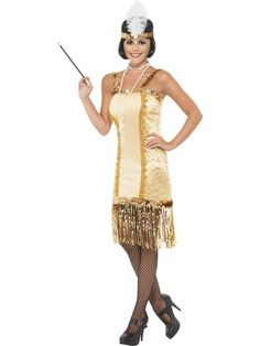 Smiffys Womens Charleston Flapper Costume Dress and Headpiece Razzle Dazzle Serious Fun Size 1012 29188 * Make sure to inspect out this awesome item. (This is an affiliate link). 1920s Fancy Dress, Fancy Dress Ball, Adult Fancy Dress, Flapper Costume, Costume Dress, Charleston Costume, Fancy Dress Outfits, Sexy Halloween Costumes, Flappers