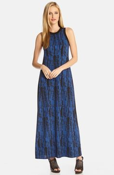 Karen Kane 'Aventura Azul' Sleeveless A-Line Maxi Dress available at #Nordstrom