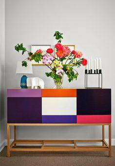 ChicDecó -- color blocks & flowers