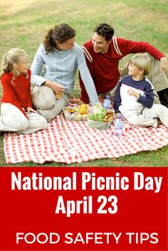 April 23 is National Picnic Day. Food safety tips to help prevent food poisoning from attending your picnic
