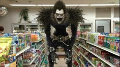 Ryuk looking for non-dairy creamer and Zigzags. What else is on his list?
