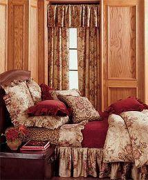 Ralph Lauren Guinevere Medieval Galahad Rose Floral Queen Bed Skirt Dust Ruffle | eBay