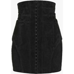 Suede mini skirt   Women's leather skirts   Balmain (€2.277) ❤ liked on Polyvore featuring skirts, mini skirts and balmain