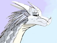 Angel the icewing drawn and created by me Novaeclipse