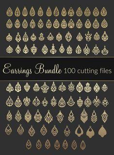 Commercial unlimited use 100 SVG Earrings bundle Dxf Eps Leather Jewelry Making, Diy Leather Earrings, Wood Earrings, Diy Earrings, 3d Laser Printer, Gravure Laser, 3d Cnc, Laser Cut Jewelry, Laser Cut Leather