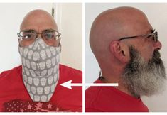 DIY Beard Face Mask Free Sewing Pattern