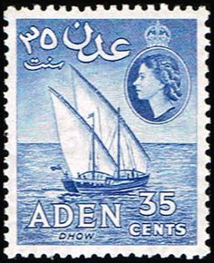 Aden 52 Stamp Dhow Stamp AS AD 52-1, $1.75 at Blue Moon Philatelic Stamp Store (http://www.bmastamps2.com/stamps/asia/aden/aden-52-stamp-dhow-as-ad-52-1/)
