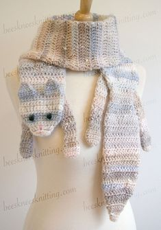 This is a CROCHET PATTERN to MAKE the scarf, NOT the actual scarf. The Calico Cat Scarf Crochet Pattern. Here's a cat of a different color! Treat yourself or that special cat lover in your life. Change the colors to match your favorite cat. I designed and wrote this pattern for