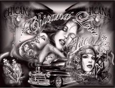 Create and share Chicano graphics and comments with friends. Chicano Style Tattoo, Chicano Love, Chicano Tattoos, Chicano Drawings, Cholo Art, Chola Style, Prison Art, Latino Art, Lowrider Art