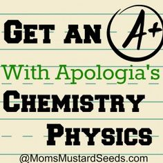 Ultimate Mom Resource: Apologia Exploring Creation with Chemistry and Physics {Giveaway and Link Up}