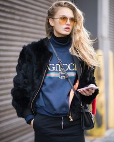 #NYFW    #streetstyle LK  #streetfashion #fashionweek #gucci #topmodel #RomeeStrijd   #MCtendenze  via MARIE CLAIRE ITALIA MAGAZINE OFFICIAL INSTAGRAM - Celebrity  Fashion  Haute Couture  Advertising  Culture  Beauty  Editorial Photography  Magazine Covers  Supermodels  Runway Models