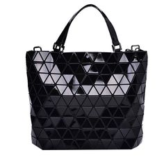 Amazon.com: Black Diamond Lattice Handbag for Women - Gloss Convertible Shoulder Tote Bag with Adjustable Handles - PU Leather Fashionable & Tote Bag Purse for Party, Wedding & Causal Use by Draizee: Shoes