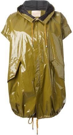 Cavallini Erika Semi Couture oversized hooded parka on http://stylecom.shopstyle.com