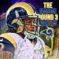 Tre Mason 2014 Fantasy Football Outlook Nfl Fantasy Football, St Louis Rams, 4 Life, Football Helmets, Pride, Board, Sports, Hs Sports, Sport