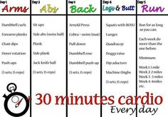 Women workout plan