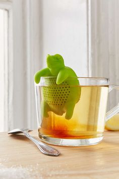 A turtle looking for a mug to use as a hot tub (so he can brew you up some tea). | 33 Impossibly Cute Kitchen Products You'll Actually Use