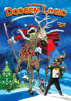Kevin O'Neill_Alan Moore's Dodgem Logic 'Festive' Cover Art !