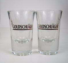227d425346cf Shot Glass Goldschlager Clear Glass Bicchieri Dublino Marked Italy 32 Lot  of 2  BicchieriDublino