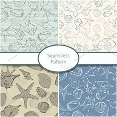 Seamless patterns with shells - Graphics