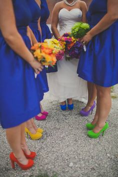 Beautiful wedding colors! Shoes and flowers to match!  Floral design by @emmyray Photo credit to Nick Allen Photo KC, MO