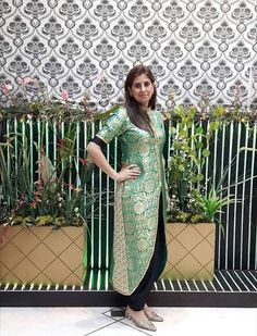 You could make your kurta contemporary or traditional by strategically placing the border www.Shopzter.com