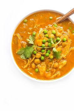 Slow Cooker Chicken Curry - easy dinner recipe for chicken in crockpot