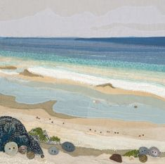 Alison is a Devon based textile artist inspired by the coast and countryside. Free Motion Embroidery, Embroidery Art, Machine Embroidery, Creative Embroidery, Embroidery Patterns, Landscape Art Quilts, Landscapes, Creative Textiles, Miniature Quilts
