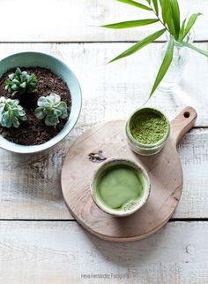 Bizcocho de té matcha, vegano, sin gluten, sin lacteos, sin azúcar