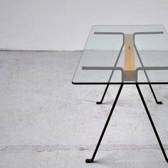 Enzo Mari, 'Frate' Table for Driade, 1973 Classic Furniture, Table Furniture, Contemporary Furniture, Vintage Furniture, Furniture Design, Enzo Mari, E Piano, Kitchen Dining Living, Metal Table Legs