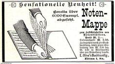 Original-Werbung/ Anzeige 1897 - NOTEN-MAPPE / OLIVA'S BUCHHANDLUNG - ZITTAU - Ca. 100 X 55 Mm - Werbung