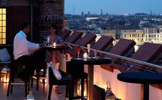 Venice: The Rooftop bar of the Molino Stucky Hilton is a great place for a panoramic sundowner. The view from the Skyline Bar stretches across the whole of Venice and the southern lagoon.