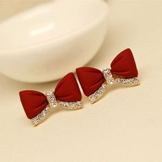 Cool! Sweet Bow Rhinestone Stud Earrings Ear Jewelry/Gifts just $17.99 from ByGoods.com! I can't wait to get it!