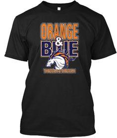 Orange &Amp; Blue Through &Amp; Through T Shirt Black T-Shirt Front