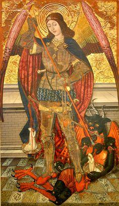 San Miguel de Abi. S. XV. Maesro de Viella. Museo Diocesano Barbastro-Monzón. Foto C. Gil