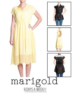 Marigold by Blank Slate Patterns - Dress, Skirt Peplum Sewing Pattern Big Girl Clothes, Sewing Clothes Women, Diy Clothing, Clothes For Women, Dress Patterns, Sewing Patterns, Sewing Ideas, Marigold Dress, Couture