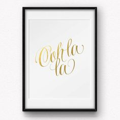 This fun 8x10 print is made by hand with beautiful gold foil and printed on high quality gloss cardstock. Let it give you a little extra boost