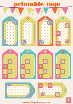 Free printable candy tags and scrapbooking borders - ausdruckbare Etiketten - freebie | MeinLilaPark – digital freebies