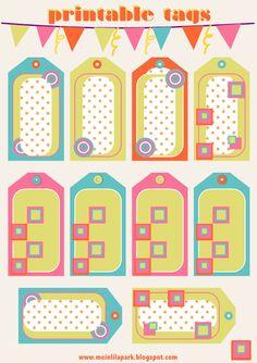 Free printable candy tags and scrapbooking borders - ausdruckbare Etiketten - freebie | MeinLilaPark – digital freebies
