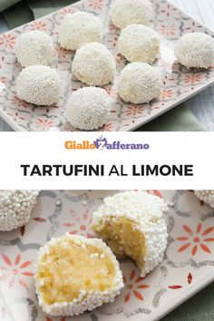 Tartufini al limone Great Desserts, Best Dessert Recipes, Sweet Recipes, Delicious Desserts, Biscotti Cookies, Biscotti Recipe, Homemade Birthday Cakes, Homemade Cakes, Cheesecake Desserts