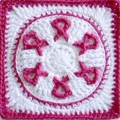 This Circle of Awareness Block is designed in memory of a good friend who we lost to breast cancer.