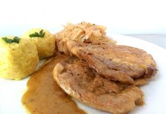Hungarian Recipes, German Recipes, Meat Recipes, Pork, Food And Drink, Tasty, Lunch, Dishes, Chicken