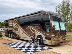Prevost Coach, Prevost Bus, Rv Homes, Motor Homes, Car Camper, Campers, Luxury Motorhomes, Luxury Bus, Rv Trailers