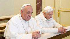 Papa Francisco y Papa emérito Benedicto