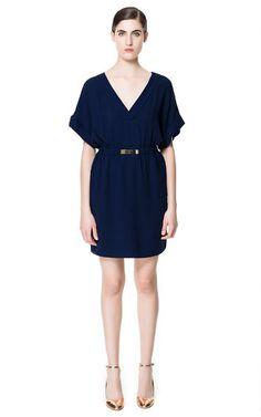 DRESS WITH APPLIQUÉ from Zara