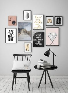 quadrinhos, parede, decoração, wall decor, poster, abstract, minimalist, minimalismo, rose, ideias, ideas, download, escandinavo, scandinavian,