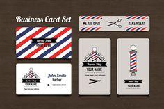 Barber Shop Business Card set by LoveDesignShop on @creativemarket