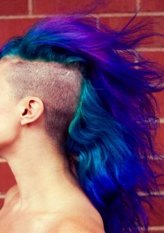 Color! Wow - i miss this. the shaved sides and the blue.