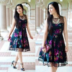 Eliza J. Dresses Fit and Flare Vintage-Inspired Dress http://www.lynnegabriel.com/?p=21077