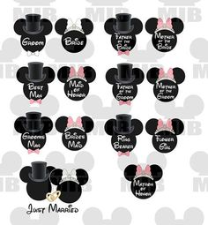 Disney Wedding Party Package  Just Right for by MiceInBlack, $40.00
